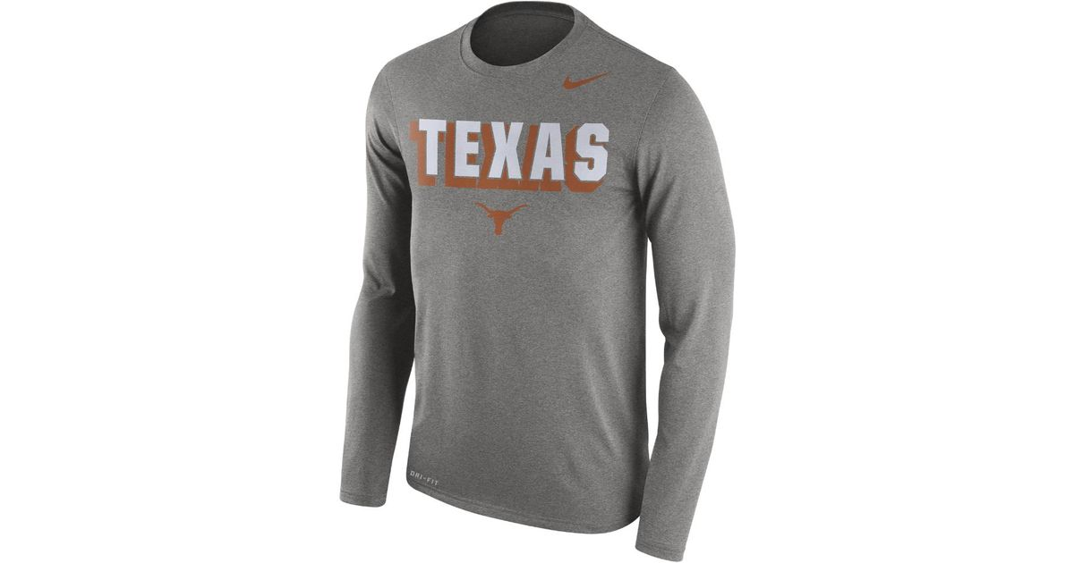 5d554c08 Lyst - Nike Dri-fit College (texas) Men's Long Sleeve Top in Gray for Men