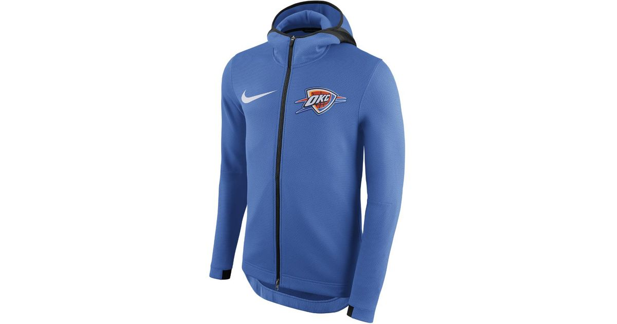 promo code 49844 9b501 Nike Oklahoma City Thunder Therma Flex Showtime Men s Nba Hoodie in Blue  for Men - Lyst