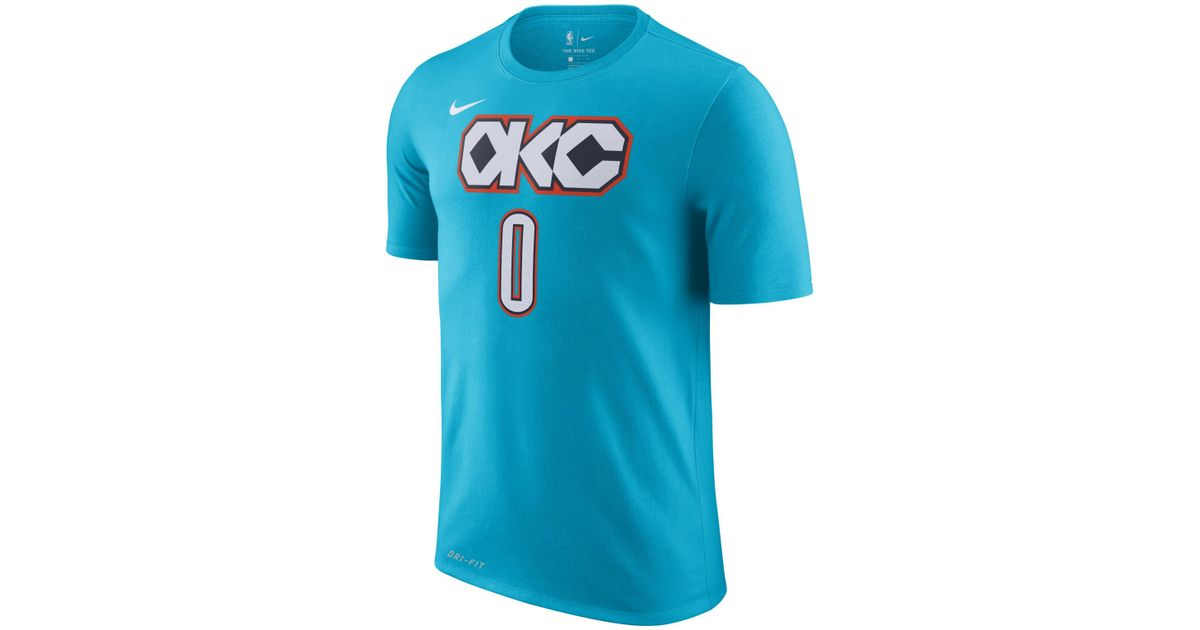 e756d104780 ... clearance nike russell westbrook oklahoma city thunder city player t  shirt 2018 in blue for men