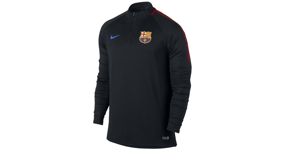 Lyst - Nike Fc Barcelona Dry Squad Drill Men s Soccer Top in Black for Men 0e90c8a9f83