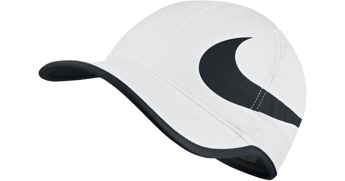 c6acb2e56 Nike - Black Court Aerobill Featherlight Adjustable Tennis Hat (white) for  Men - Lyst