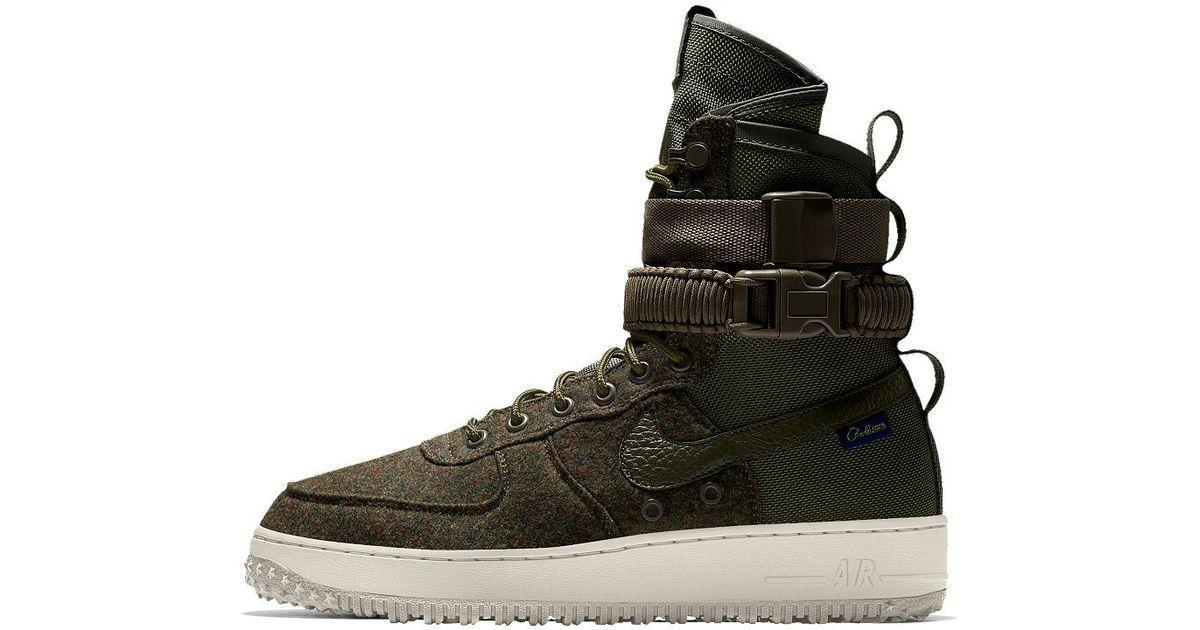 e5aa2a8a057 Lyst - Nike Sf Air Force 1 Premium Id Men s Shoe in Black for Men