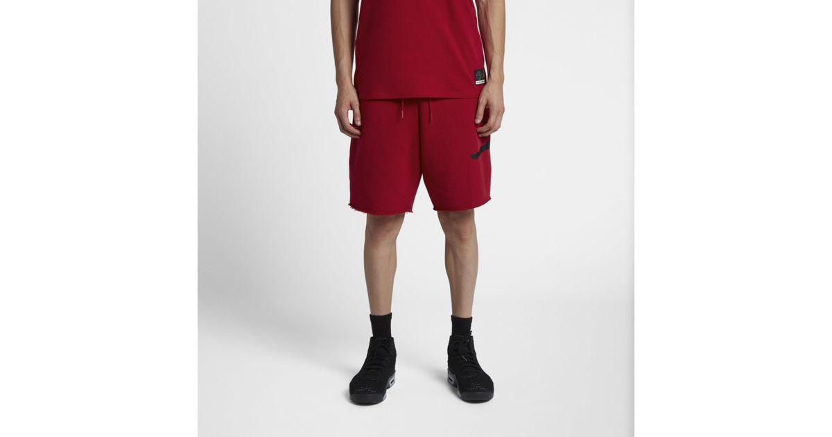 d09b5928573291 Nike Jordan Jumpman Air Fleece Shorts in Red for Men - Lyst