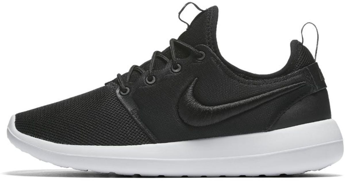 on sale a9749 7fca0 ... official lyst nike roshe two breathe womens shoe in black 25877 51d4e