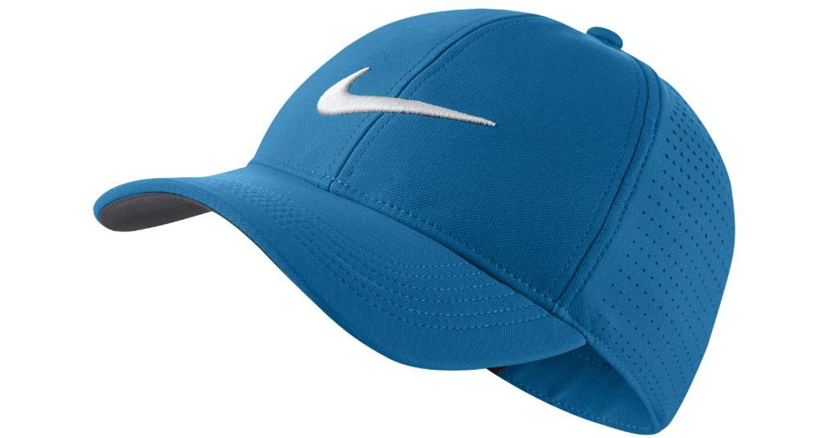 8f281f8c Lyst - Nike Legacy 91 Perforated Adjustable Golf Hat (blue) in Blue for Men