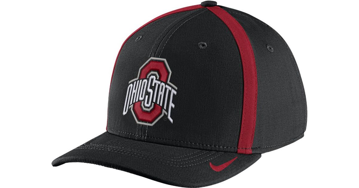 best loved 65e8c 0dfab Lyst - Nike College Aerobill Swoosh Flex (ohio State) Fitted Hat in Black  for Men