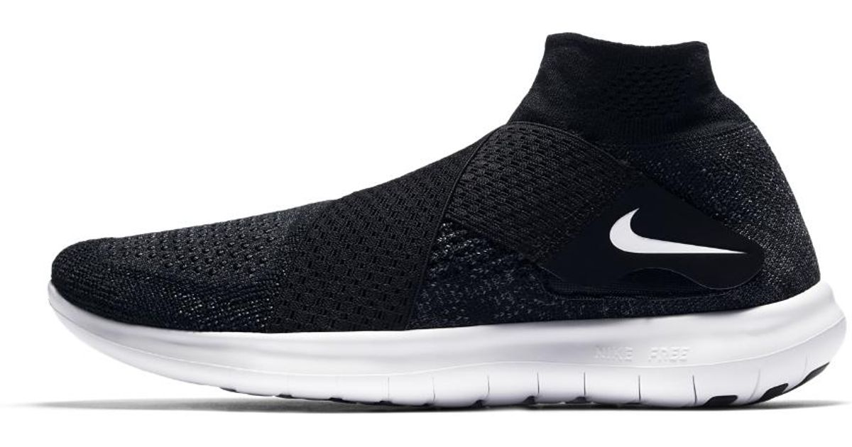a9ec2f5e1af Lyst - Nike Free Rn Motion Flyknit 2017 Women s Running Shoe in Black