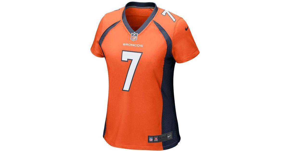 separation shoes 97c71 d908b Nike - Orange Nfl Denver Broncos (john Elway) Football Home Game Jersey -  Lyst