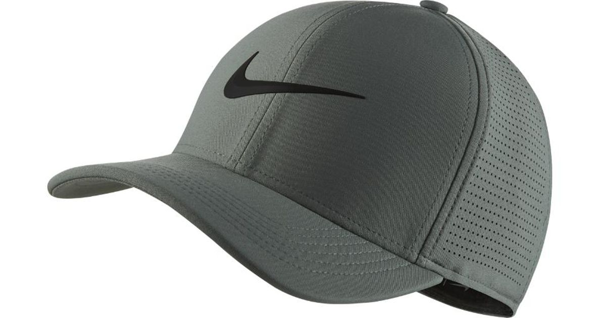 Lyst - Nike Aerobill Classic 99 Fitted Golf Hat in Green for Men 27c067c5372