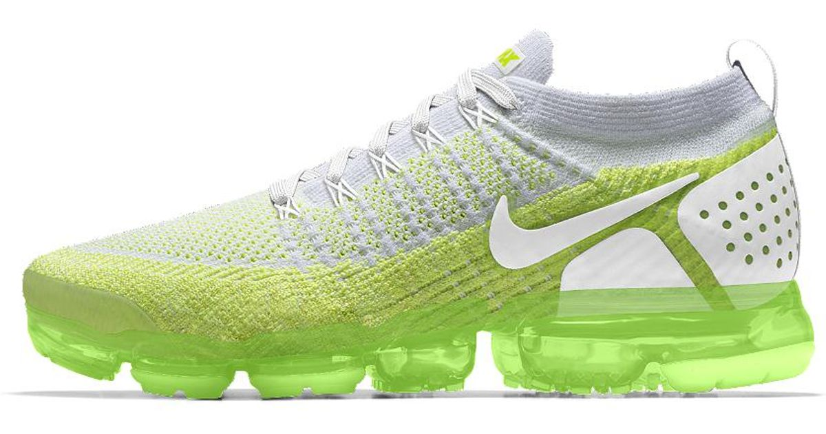 8cd5f3fcd8269 Lyst - Nike Air Vapormax Flyknit 2 Id Men s Running Shoe in Green for Men
