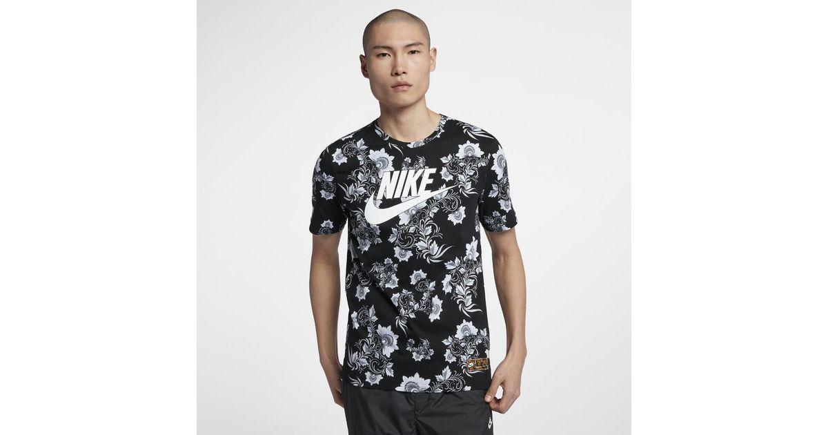 Men's Lyst Nike Floral Shirt Sportswear T For In Men Black xBtrwBq7HC