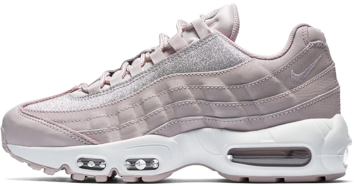 Nike Air Max 95 Se Glitter Shoe in Pink - Lyst 8be4c7371