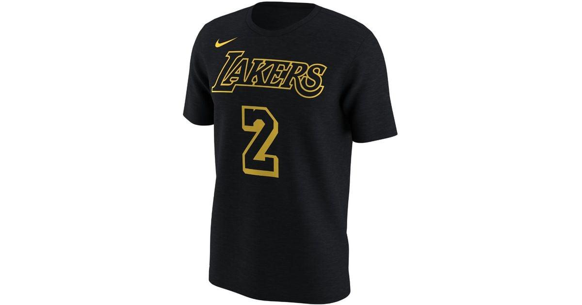 Lyst - Nike Los Angeles Lakers City Edition (lonzo Ball) Dri-fit Men s Nba  T-shirt in Black for Men 292ed368c