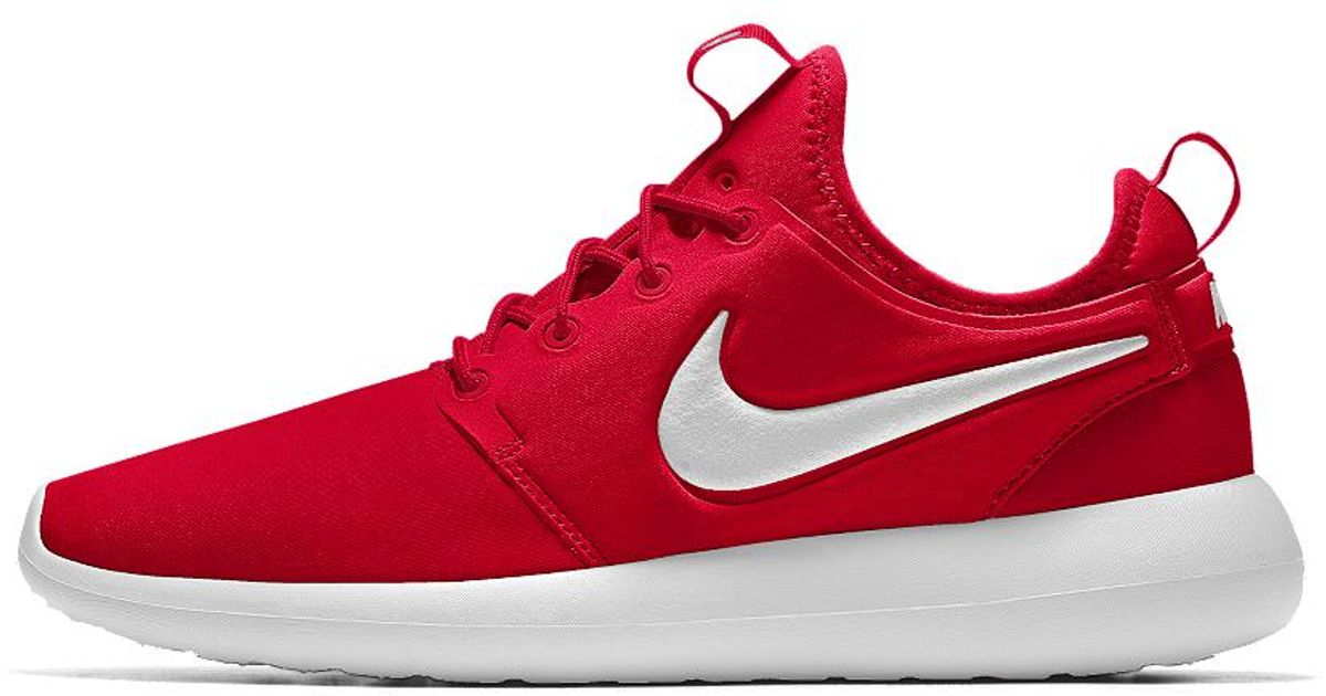 timeless design eb91d 35327 Lyst - Nike Roshe One Essential Id Womens Shoe in Red - Save