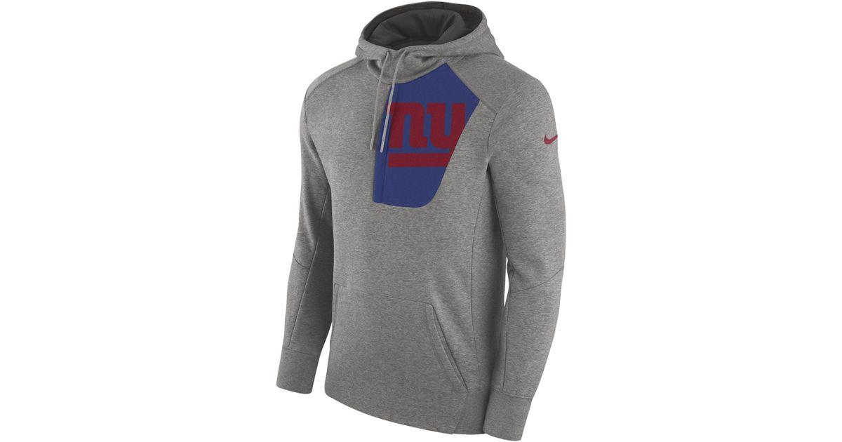 buy popular 5f974 5d25a Nike - Gray Fly Fleece (nfl Giants) Sweatshirt Hoodie for Men - Lyst