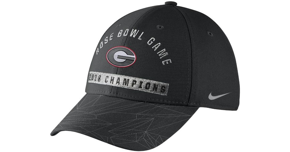 5cb75cb736e ... usa lyst nike cfp l91 locker room rose bowl georgia adjustable hat black  in black for