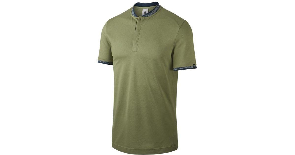 2c8ffd57 Nike Nikecourt X Rf Woven Knit Men's Polo Shirt in Green for Men - Lyst