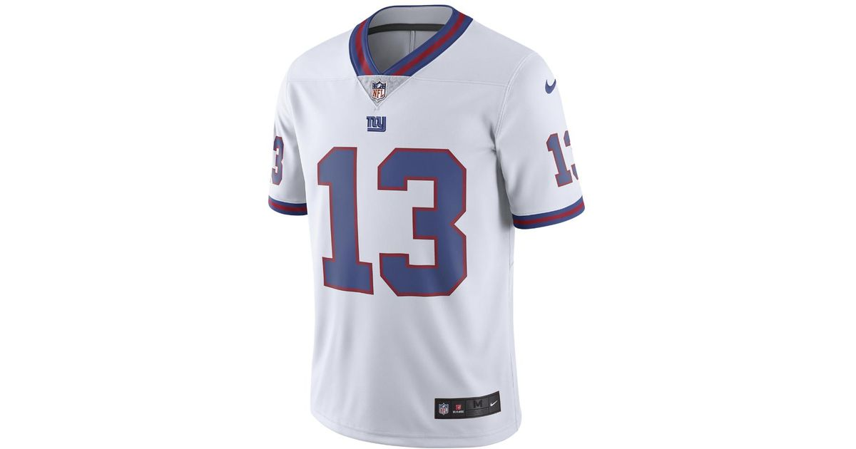 b810b748 ... canada mens nike new york giants 13 odell beckham jr white color rush limited  jerseys dcd9b