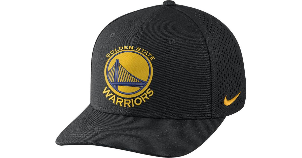 e5aff332a Lyst - Nike Golden State Warriors Aerobill Classic99 Adjustable Nba Hat  (black) in Black for Men