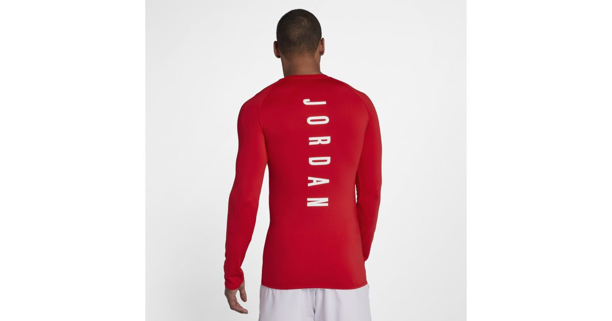 19116ee22338 Nike Jordan 23 Alpha Long-sleeve Basketball Top in Red for Men - Lyst