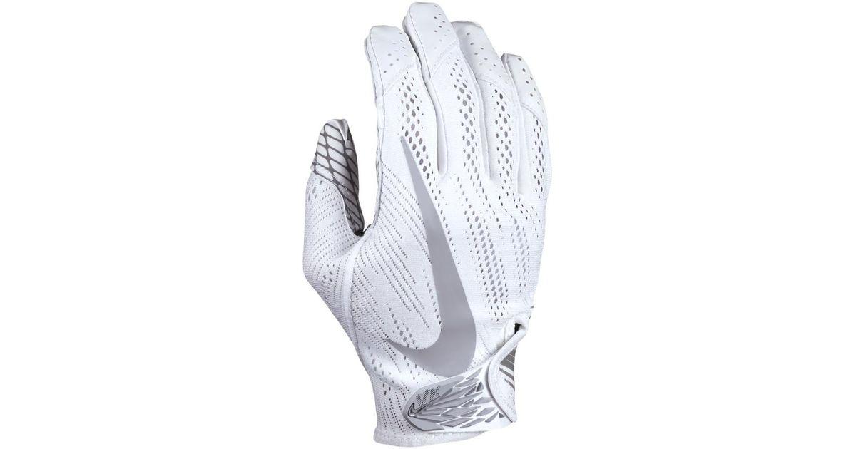 dbec28ef522fa Lyst - Nike Vapor Knit Men s Football Gloves in White for Men