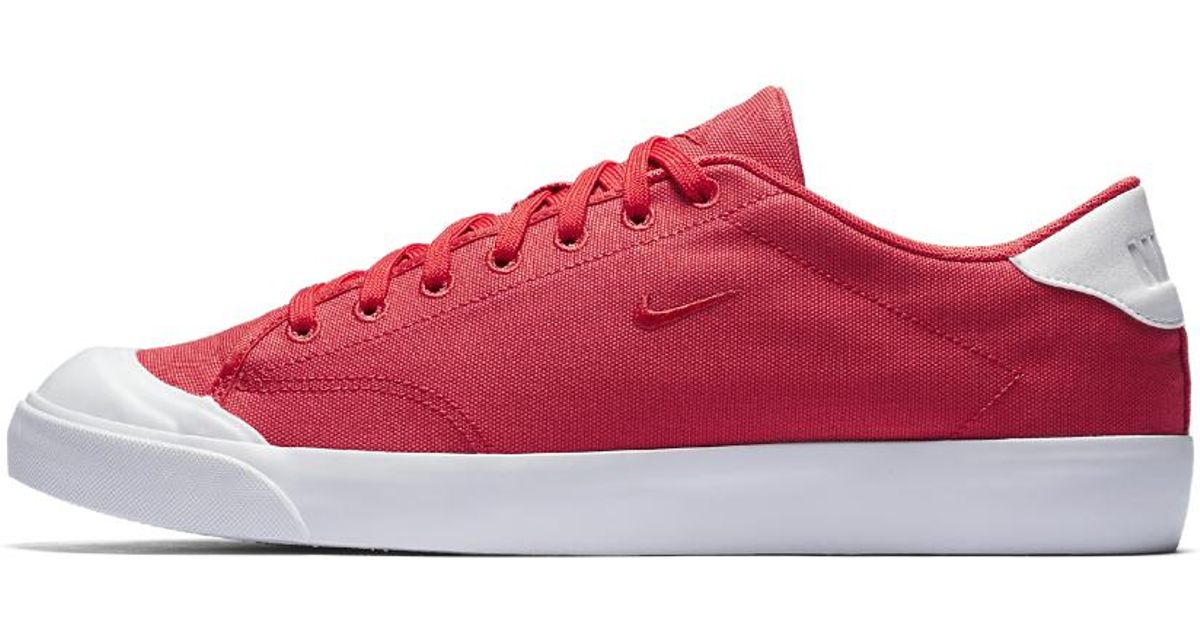 372b29c8c7b Lyst - Nike All Court 2 Low Canvas Men s Shoe in Red for Men