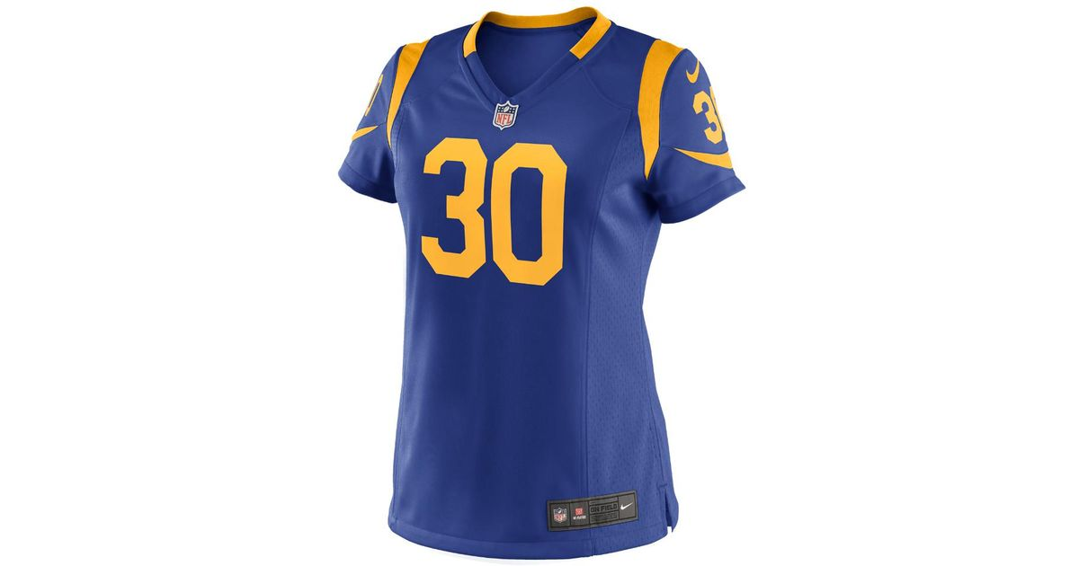 size 40 649f2 8a41a Nike - Blue Nfl Los Angeles Rams (todd Gurley Ii) Women's Football  Alternate Game Jersey - Lyst