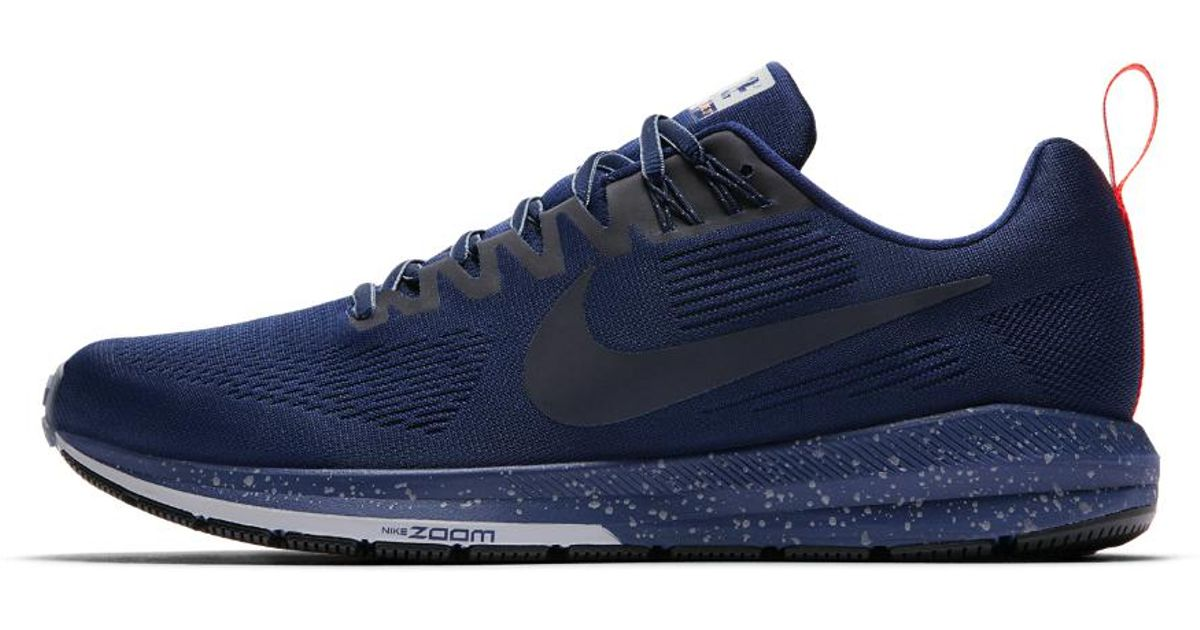 e51b4c63d66a Lyst - Nike Air Zoom Structure 21 Shield Men s Running Shoe in Blue for Men