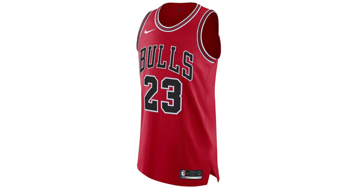 d8354f6af Nike Michael Icon Edition Authentic Jersey (chicago Bulls) Men s Nike Nba  Connected Jersey in Red for Men - Lyst