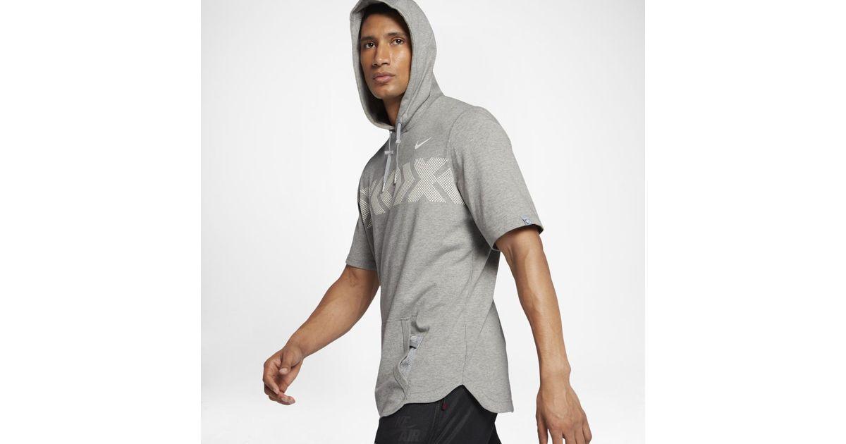 5df89c473342 Lyst - Nike Air Pivot N7 Men s Short Sleeve Hoodie in Gray for Men