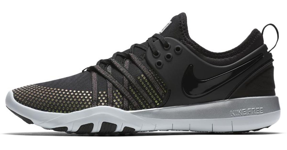 67a96bb813481 ... new zealand lyst nike free tr 7 metallic womens training shoe in black  4a1aa 2c822