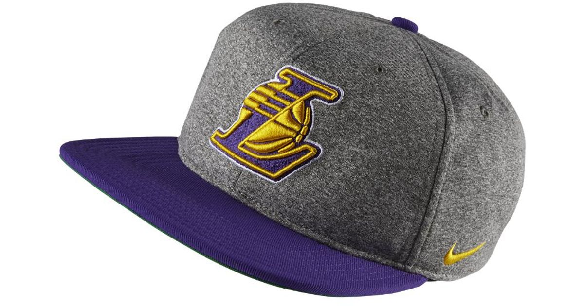low priced 0ea00 2abd8 Nike Los Angeles Lakers Aerobill Nba Hat (grey) in Gray for Men - Lyst