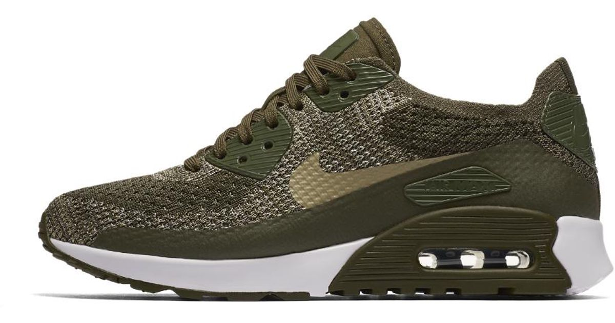 64ed746aabe3d Nike Air Max 90 Ultra 2.0 Flyknit Women's Shoe in Green - Lyst
