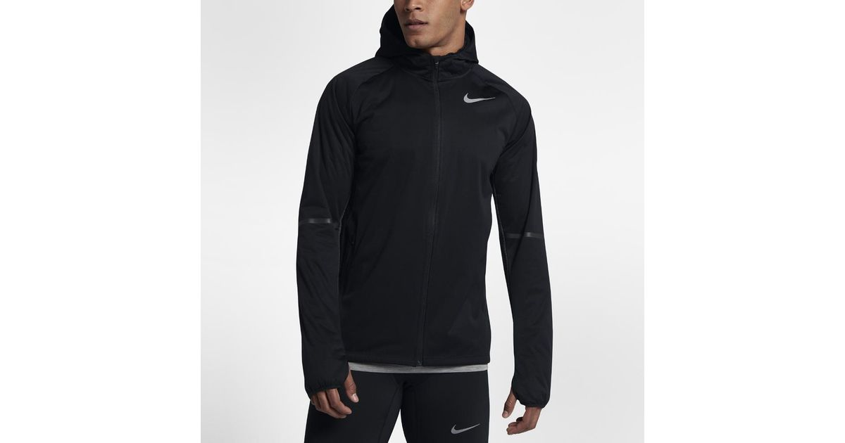 926781e8c97f Lyst - Nike Shield Max Men s Running Jacket in Black for Men