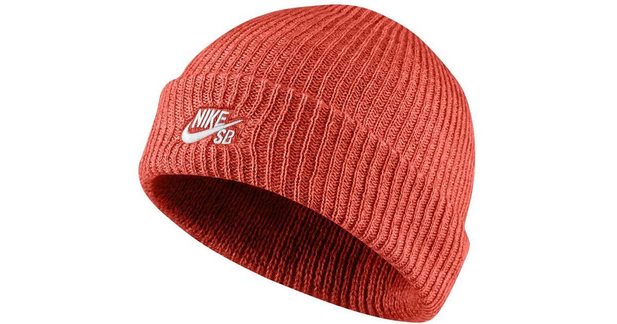 8e6346de4ec Lyst - Nike Sb Fisherman Knit Hat (orange) in Orange for Men