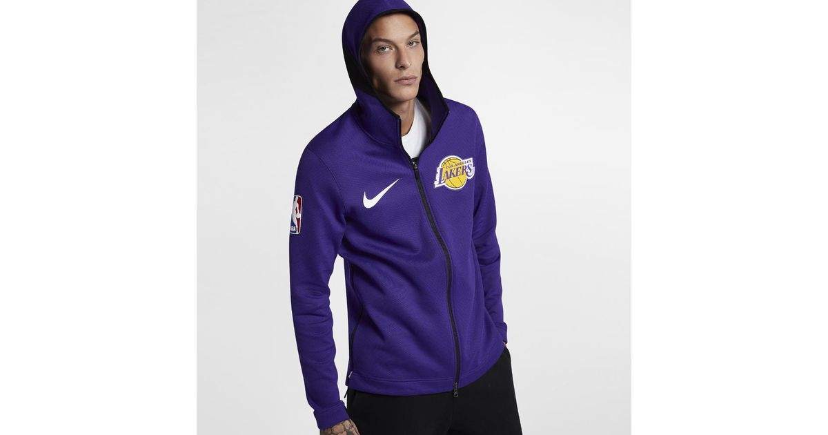 de7ebc2c1 Nike Los Angeles Lakers Therma Flex Showtime Men's Nba Hoodie in Purple for  Men - Lyst