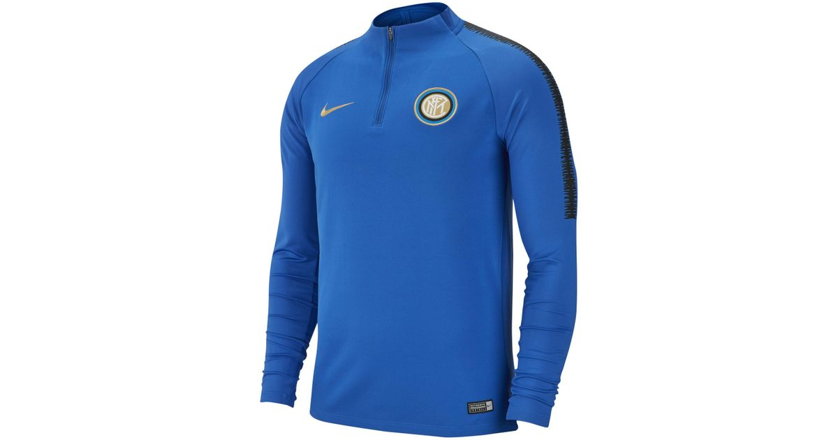 a8880f101 Nike Inter Milan Dri-fit Squad Drill Long-sleeve Football Top in Blue for  Men - Lyst