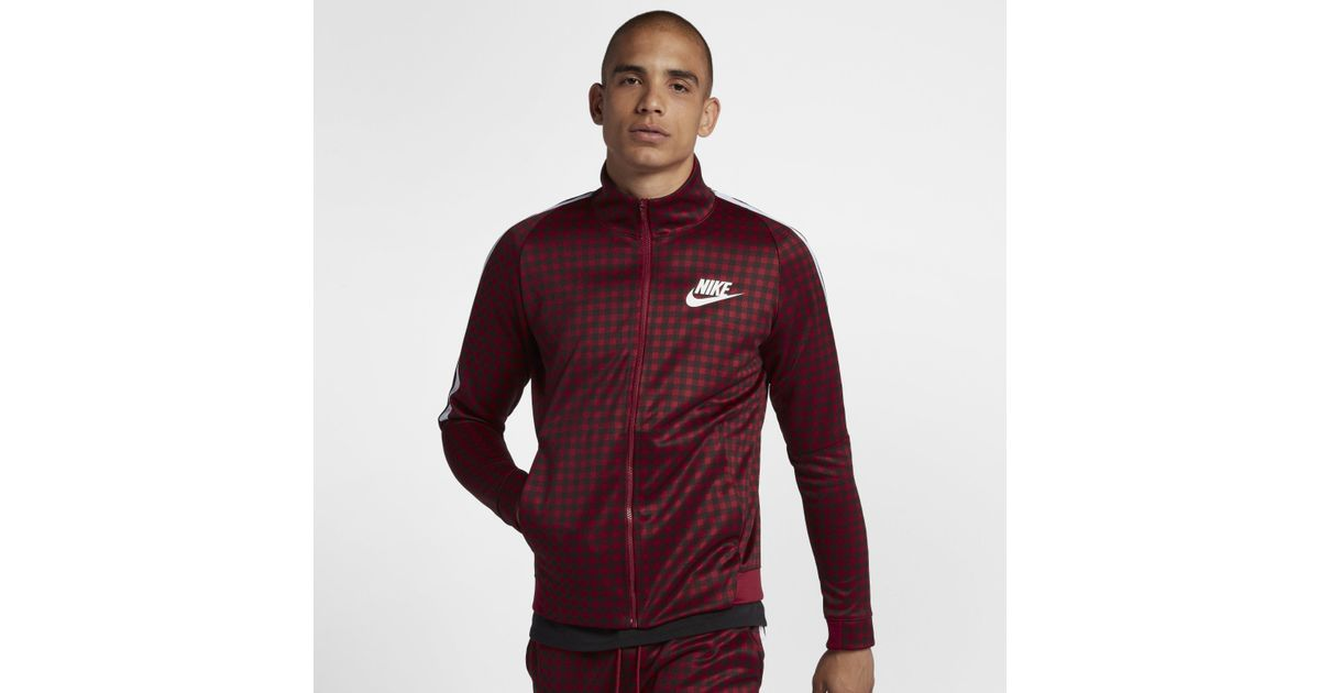 Nike Red Sportswear Track-Jacket mit Grafik