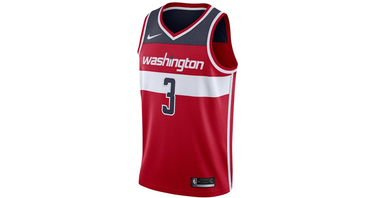 e3eb1ee0197 Lyst - Nike Bradley Beal Icon Edition Swingman Jersey (washington Wizards) Men s  Nba Connected Jersey in Red for Men