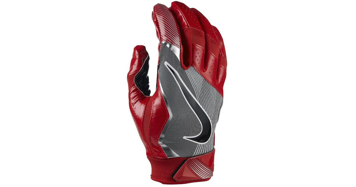 Lyst - Nike Vapor Jet 4 Men s Football Gloves in Red for Men 38c3b3ba2f76