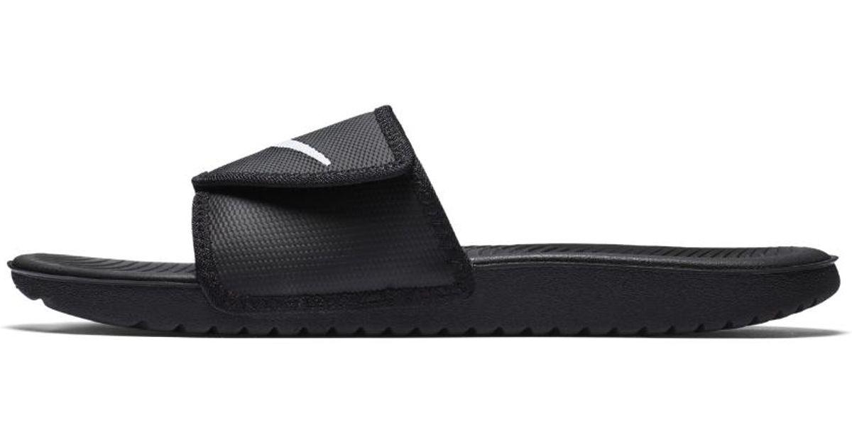 6d1f620a94c6 Lyst - Nike Kawa Men s Adjustable Slide Sandal in Black for Men