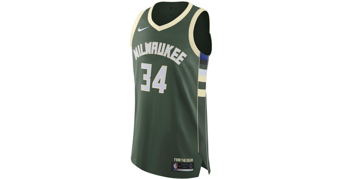 pretty nice 1cb7c 660ca Nike Green Giannis Antetokounmpo Icon Edition Swingman Jersey (milwaukee  Bucks) Men's Nba Connected Jersey for men