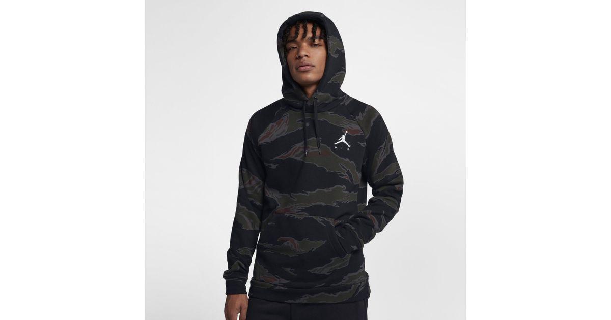 c843acf541a897 Nike Jordan Sportswear Jumpman Camo Fleece Sweatshirt in Black for Men -  Lyst