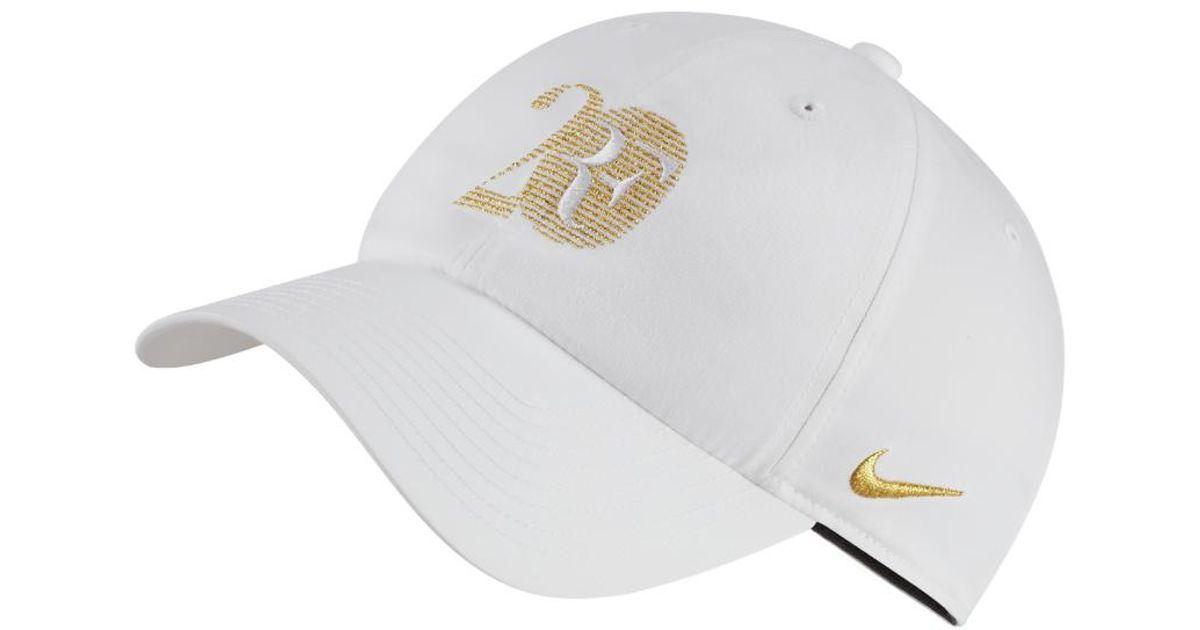 fc66991851e Lyst - Nike Rf 20 Adjustable Hat (white) in White for Men