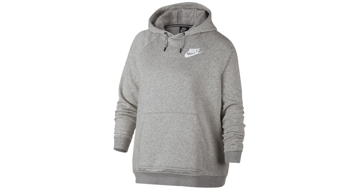 f6128ed8d44e Lyst - Nike Sportswear Rally Women s Hoodie (plus in Gray
