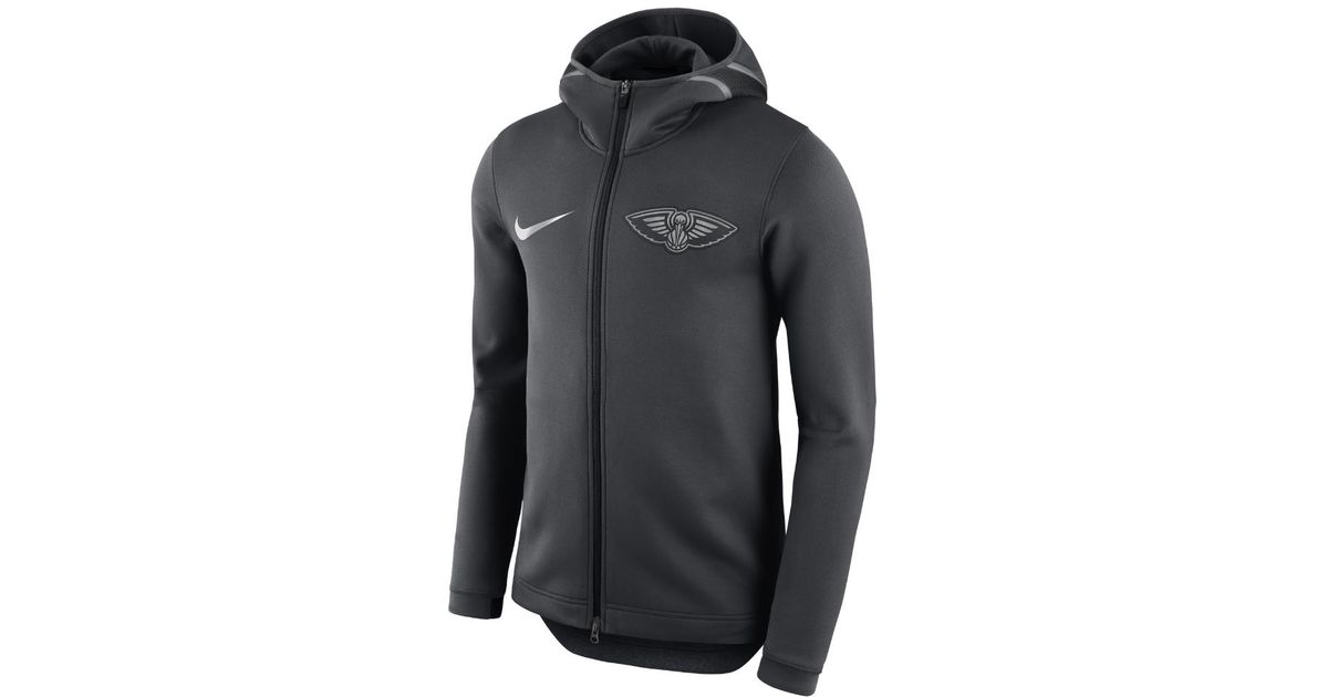 new product fc10c 385cc ... heathered gray new orleans pelicans backer name and wholesale lyst nike  new orleans pelicans therma flex showtime mens nba hoodie in black for men  ...