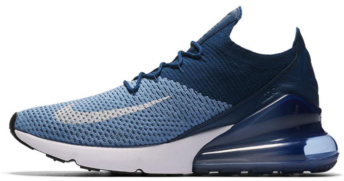 Lyst - Nike Air Max 270 Flyknit Men s Shoe in Blue for Men 9e21aa190