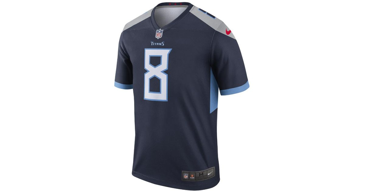 Lyst - Nike Nfl Tennessee Titans Legend (marcus Mariota) Men s Football  Jersey in Blue for Men c1abcd32a47