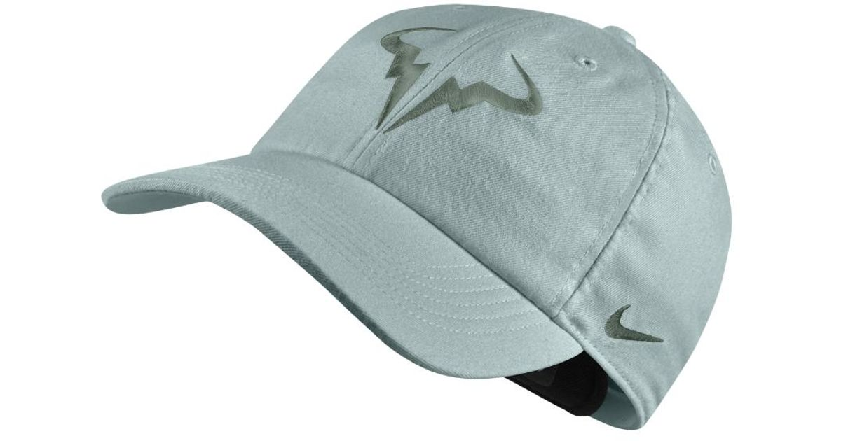 92a40e7a07e17 Nike Court Aerobill H86 Rafael Nadal Adjustable Tennis Hat (grey) in Gray  for Men - Lyst