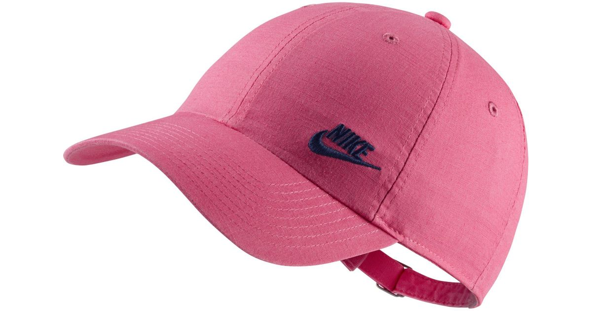 c7282031617df Nike Sportswear Heritage 86 Futura Adjustable Hat in Pink - Lyst